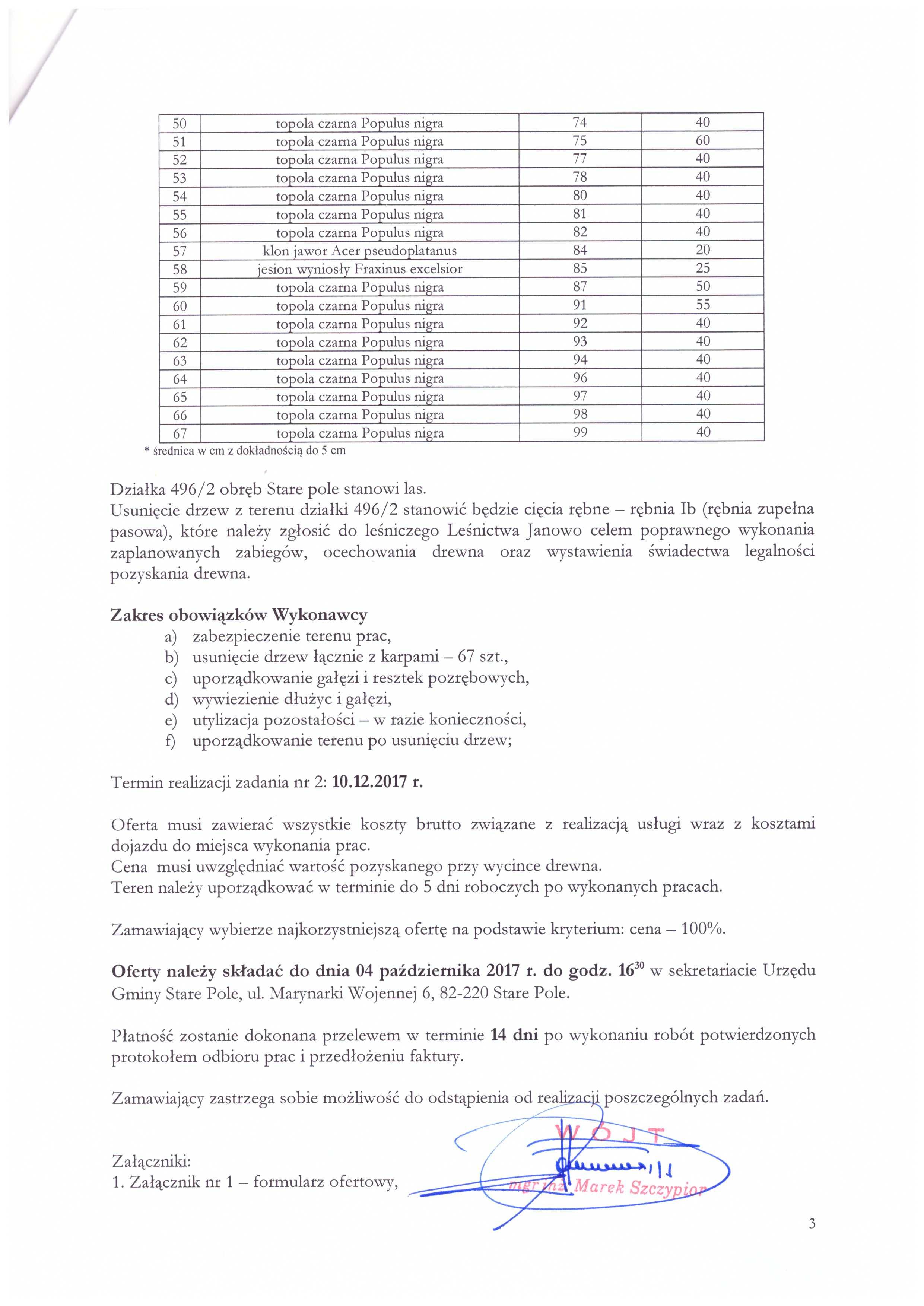 Aktualizacja z dnia 25 września 2017 r. zapytania ofertowego - str. 3