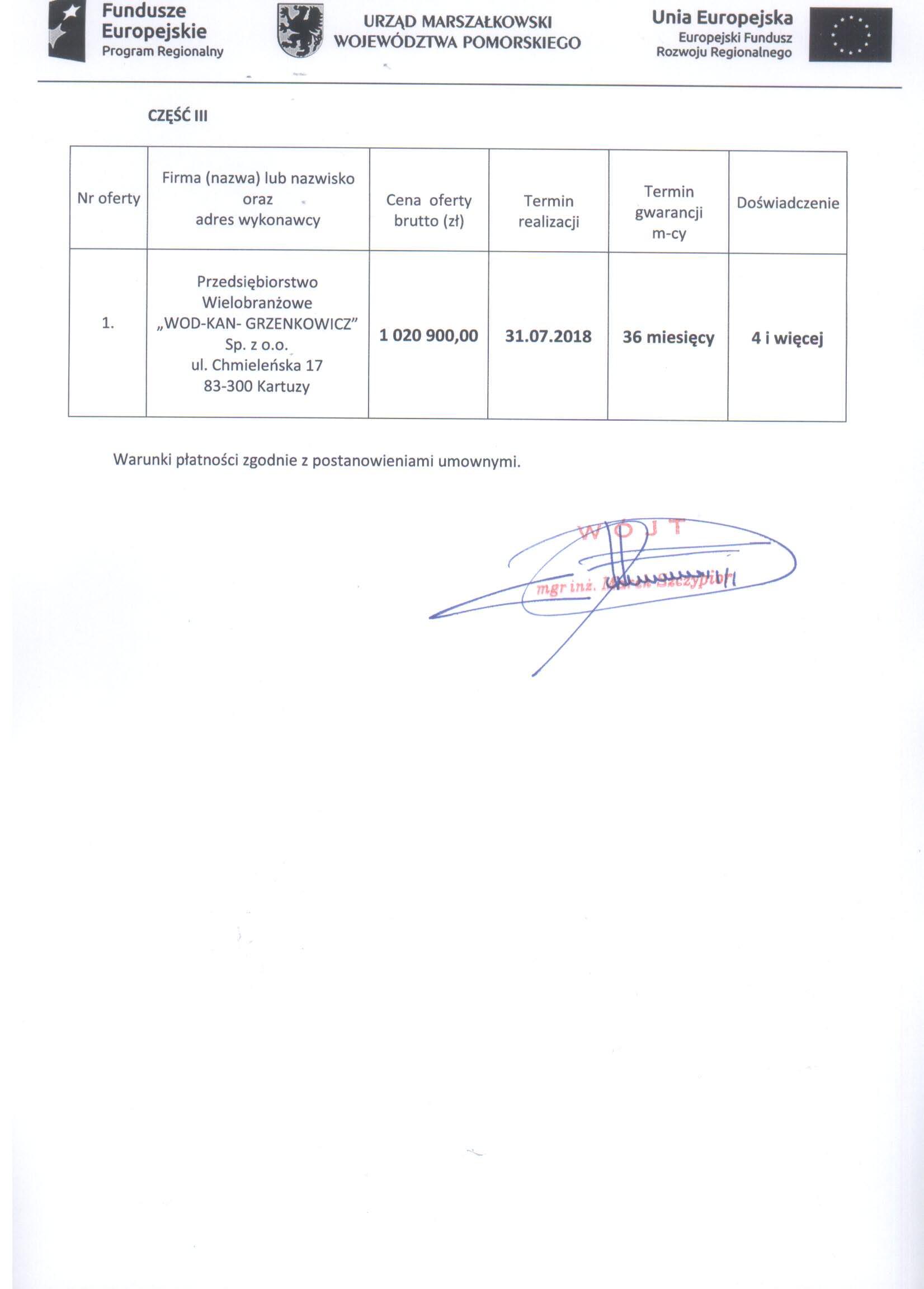 Informacja z dnia 8 stycznia 2018 r. z otwarcia ofert - str. 2